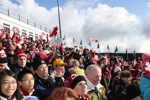 Canada Fans at Men's Freestyle Moguls